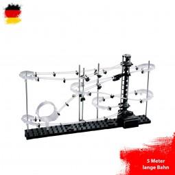 Kugelbahn Murmelbahn, Konstruktions-Set mit 5 Meter Länge, Level 1, Space-Rail, Kreativ-Spielzeug