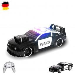 RC ferngesteuerter Polizei-Auto mit Sirene und Licht, Fahrzeug mit Fernsteuerung, Maßstab 1:16