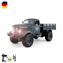 RC ferngesteuerter Off-Road Militär Fahrzeug, Auto, Truck, 2,4GHz, LKW-Modell mit LED, 4WD-Antrieb