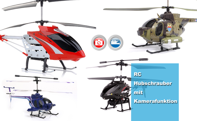 Hubschrauber mit Kamerafunktion